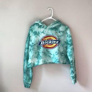 🦋3/50$ Dickies tie-dye green dropped hoodie